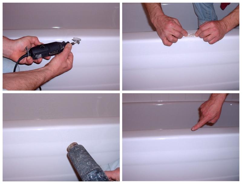 Реставрация сколов ванны